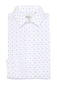 Ben Sherman Blue Dot Clip Spot Dress Shirt