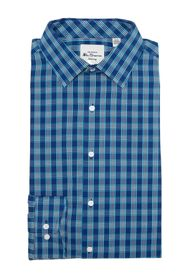 Ben Sherman Teal & Navy Gingham Dress Shirt