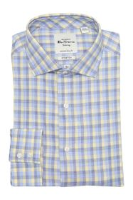 Ben Sherman Yellow & Blue Slub Check Dress Shirt
