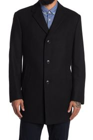 KENNETH COLE Rico Wool Blend Overcoat