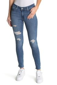 "Levi's 711 Distressed Skinny Jeans - 30"" Inseam"