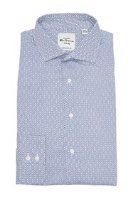 Ben Sherman Navy & Teal Dot Print Dress Shirt