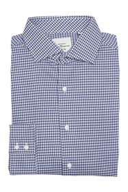 Ben Sherman Navy Dobby Gingham Dress Shirt