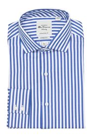 Ben Sherman Royal Sateen Bengal Stripe Dress Shirt