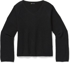 Smartwool Shadow Pine Cable V-Neck Sweater - Women