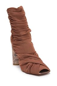Roberto Cavalli Square Peep Toe Slouchy Ruched Boo