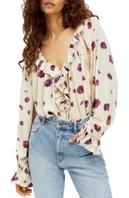 Free People Poppy Printed Bodysuit