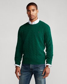 Ralph Lauren Cable-Knit Wool-Cashmere Sweater