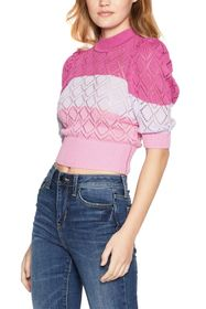 BCBGeneration Striped Sweater Top