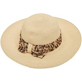 Womens Madd Hatter Floppy Hat with Leopard Bow