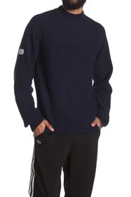 Lacoste Ribbed High Neck Wool Blend Pullover