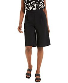 Pleated Pull-On Shorts, Created for Macy's