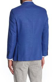 Nautica Structure Solid Notch Collar Two-Button Bl