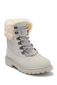 OLIVIA MILLER Faux Fur Lace Up Boot