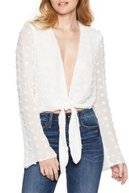 BCBGeneration Long Sleeve Woven Top