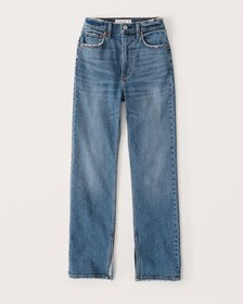 Ultra High Rise Ankle Straight Jeans, MEDIUM WASH