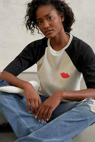 Anthropologie Clare V. Lips Graphic Tee