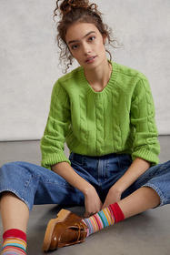 Anthropologie Betsy Cable-Knit Sweater
