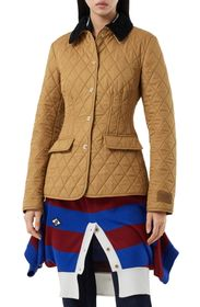 Burberry Fitted Diamond Quilted Barn Jacket