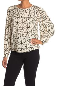 philosophy Dotted Rope Balloon Sleeve Blouse