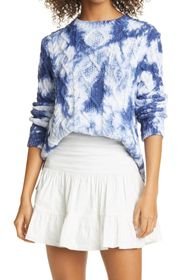 Nicole Miller TIE DYE LONG SLEEVE CABLE KNIT