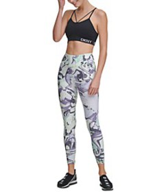 Sport Marble-Print High-Waist Leggings
