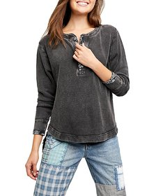 Free People - Fall For You Cotton Henley Top