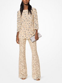 Michael Kors Embroidered Floral Guipure Tunic
