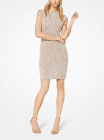 Michael Kors Crystal and Pearl Embroidered Stretch