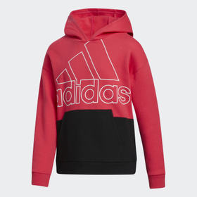 Adidas Youth Training Pink Colorblock Hoodie