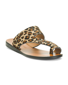 Made In Italy Asymmetric Leather Sandals With Toe