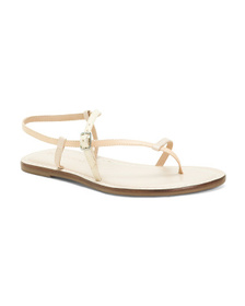 Made In Brazil Leather Flat Sandals