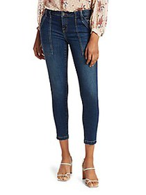 Joie Park Mid-Rise Cropped Skinny Jeans