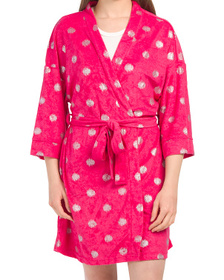 Polka Dot Belted Terry Robe