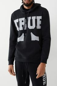 True Religion Logo Branded Drawstring Hoodie