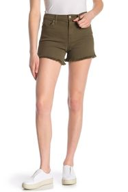 7 For All Mankind High Waisted Fray Hem Shorts
