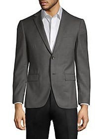 Theory Striped Slim-Fit Wool Sportcoat
