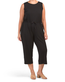Plus Made In Usa Fine Jersey Jumpsuit