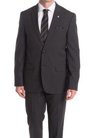 Ben Sherman Burge Dark Gray Two Button Notch Lapel