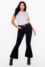Nasty Gal Black Plus Size Flared Mom Jeans