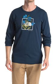 The North Face Himalayan Blue Poppy Long Sleeve T-