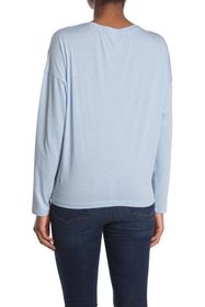 7 For All Mankind Long Sleeve Tunnel Front T-Shirt