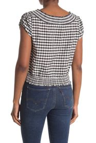 7 For All Mankind Smocked Waist Top