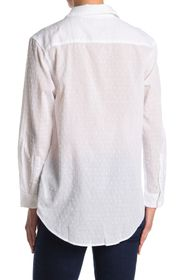 7 For All Mankind Hi-Lo Tie Front Button Down Shir