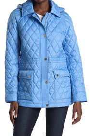 Michael Kors Hooded Diamond Quilted Jacket
