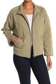 Bagatelle French Terry Diamond Quilted Jacket