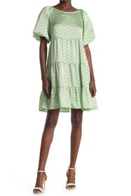BCBGeneration Puff Sleeve Babydoll Dress