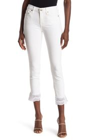7 For All Mankind Gwenevere Eyelet Trim Ankle Jean