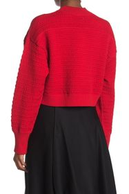 3.1 PHILLIP LIM Solid Silk Blend Cropped Pullover