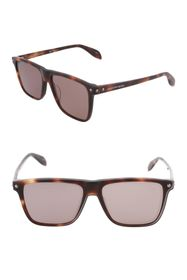Alexander McQueen 56mm Square Sunglasses